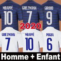 Frankreich Trikots GRIEZMANN MBAPPE POGBA 100-jähriges Jubiläum 100 Jahre 2019 2020 EURO Langarm DEMBELE KANTE PAVARD Thailand Qualität Männer Kinder Frauen Fußball shirt Uniformen
