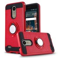 Bilmonteringshållare Magnetisk telefon Ringväska för LG G8 V50 THINQ K9 K8 2018 V40 Q7 plus stötskyddad täckning
