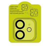 iPhone 12 için 3D 9D Kamera Film temperli cam Tam Kapak Perakende Paketi yanlısı max Kamera Lens Ekran Koruyucu