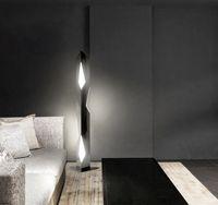 Современный стиль гостиной напольная лампа из нержавеющей стали геометрическая резка светодиодная креативная личность спальня прикроватная светильник
