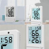 다기능 디지털 시계 LED 대형 스크린 디스플레이는 시간과 날짜의 기능을 가지고 알람 시계 실내 온도계 히그메 로팅 173 K2