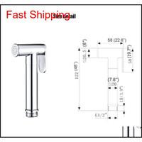 Messing Chrom Überzogenes Badezimmer Bidet Wasserhahn WC Handheld Bidet Sprayer Kit Spray Dusche Qyljmo Packing2010