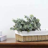 Faux eucalyptus hojas artificiales vegetales vulnees falsos plantas verdes ramas DIY hogar boda fiesta decoración jk2101ph