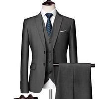 Мужские костюмы Blazers 2021 Мужская свадьба Groom Plus Размер 6xL 3 шт.