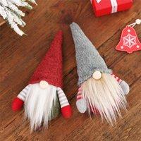 DHL 크리스마스 수제 스웨덴어 그놈 스 칸디나비아 톰트 산타 Nisse 노르딕 봉제 엘프 장난감 테이블 장식 크리스마스 트리 장식 OWF2806