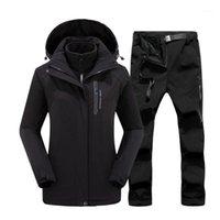 Лыжные лыжные куртки зимний лыжный костюм женские бренды куртка и брюки высокого качества ветрозащитные водонепроницаемые супер теплые снежные брюки сноуборд одежда1