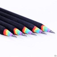 200 PCS Lápiz de arco iris para niños Escuela ambiental Lápices Suministros de escritura1