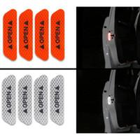 Auto-Styling 4 stücke Auto Tür Aufkleber Aufkleber Warnband Auto Reflektierende Aufkleber Reflektierende Streifen Sicherheitszeichen Automobilaufkleber