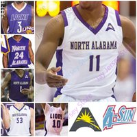 Nord Alabama UNA Lions Basket Blayball Jersey NCAA College 2 Christian Agnew 3 Jamari Blackmon 5 Mervin James 11 C.J. Brim 21 Emanuel Littles