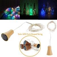 10 pz 1 m 1.5m 2m 2m sughero a sughero LED luce di rame filo festivo fata luci per la festa di Natale decorazione di nozze Y200603
