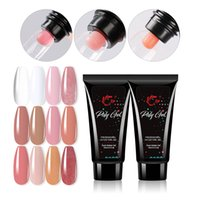 12 couleur acrylique Poly Nail Gel Rose Blanc Clear Clear Glitter Crystal UV LED CONSTRUCTEURS CONSTRUCTEURS DE CONSTRUCTEUR DE BOUILLAGE D'AMÉLIOPTEMENT Solution rapide Extension rapide
