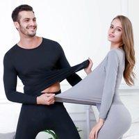 Homens conjuntos de roupa interior térmica Aqueça Long Johns Outono Inverno Underwear térmica For Men Thick Roupa Suit