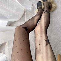 검은 나비 여자 섹시 스타킹 패션 편지 인쇄 여성 스타킹 섹시한 숙녀 나이트 클럽 긴 스타킹