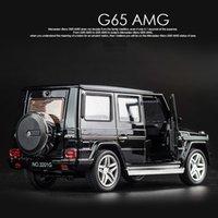 Kidami 1:32 سبيكة G65 suv amg دييكاست سيارة نموذج لعبة سيارة التراجع سيارة مع ضوء الصوت هدية جمع للأولاد الساخن ويلز Y200109