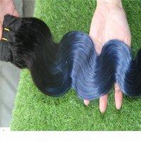 Fangle Vergine Brasiliano T1b Bule Bule Ombre Colore Brasiliano Body Wave Weave Tessuto Capelli 100% Brasiliano Doppia Trema Doppia Trema Doppia Trema