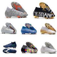 أحدث الذهب CR7 SE النخبة السادس 360 FG كرة القدم أحذية كرة القدم التمهيد mercurial superfly 6 lvl up cristiano ronaldo الرجال cleats