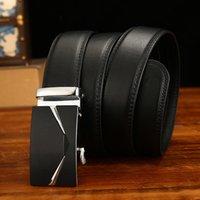 Anxianni Belt Men Top Quality cintos de couro de luxo genuína para Homens Automatic Buckle cummerbunds Masculino