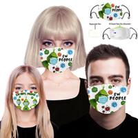 Grinch robó la Navidad 3D Imprimir Cosplay Mascarillas Cara Reutilizable Lavable Polvo A Prueba de polvo Linda Máscara de Moda