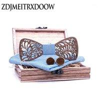 Arco laços bowties de madeira para homens homens de algodão gravatas corbatas corbatas borboleta borboleta cravat tie festa de festa t2421
