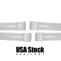 8ft T8 72W 4ft 36W Double Row LED Integrated Tubes lights fixture plug and play for shop garage warehouse barn USA STOCK 110V