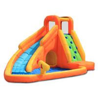 Оранжевая зона оранжевой зоны открытый летний Aqua Park надувной бассейн слайд дети Boundy Castle Water Gun Game Backyard Air ust