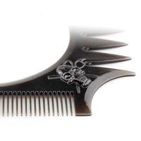 Uomini Barba Styling Shaping Template Fashion Shaper Stencil Pettine Barbiere Strumento Symmetry Line Up Trimming Guida q sqceyr