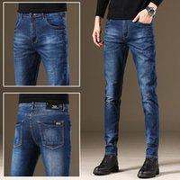 Jean slim pantalon gris noir élastiques hommes occasionnels chute hommes / hiver 2020 jeans pour les hommes CN attache (origine)