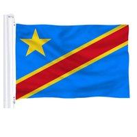 Флаги Конго 3'x5'ft Горячие страны Национальные флаги 150x90cm 100D полиэстер Бесплатная доставка яркий цвет с двумя латунными втулками