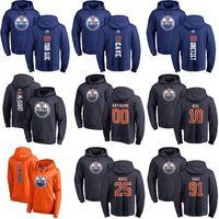 Edmonton Oilers Kazak Hoodie Alex Chiasson Markus Granlund Tomas Jurco James Neal Ryan Nugent-Hopkins Hokeyi Tişörtü Özel Dikişli