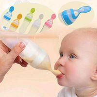 90ml 아기 먹이 병 품질 부드러운 실리콘 숟가락 시리얼 병 아기 쌀 시리얼 먹는 병 젖소 supplem1