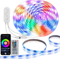 LED Strip Light RGB 5050 Flexible LED Strip Light 10m 15m 20m 12V Nastro a LED + Adattatore di alimentazione + Controller musicale Bluetooth