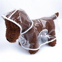 플라스틱 투명 방수 비옷 쉬운 깨끗한 작은 중간 크기 개가 비옷 강아지 옷 Poncho 애완 동물 용품 뜨거운 판매 8mm F2