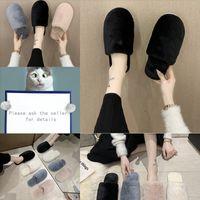 N0XMD Rela Bota Coréen Color Lettre Strass Slinest Santon Slipper Femmes Mode Mode Summer Summer Shaky Shoes De Bas Luxury Peluche