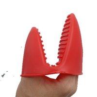 الفرن مكافحة سدادات اليد كليب المدمجة سيليكون قفاز لوازم المطبخ غير الزهور قفازات عالية درجة الحرارة المقاومة الساخن بيع 1 05MT F2