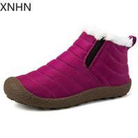 New Unisex Winter Couple Shoes Solid Color Snow botas Plush ...