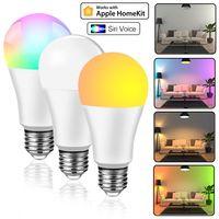 홈 키트 와이파이 스마트 전구 LED 램프 앱 컨트롤 E27 LED 전구 15W RGB 85-265V SIRI 음성 컨트롤 Arexa Echo Google 홈