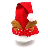 1pc Creative Christmas Santa Claus Hats Red Elk Caps For Adu...