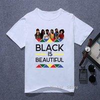 Black é letra bonita impressão t camisa mulheres sexy melanin camisa negro menina africano tshirt femme gráfico camiseta tops de verão