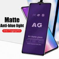 Матовый матовый анти-синий светло-закаленное стекло для iPhone 11PRO 12PRO MAX 12MINA Protector на экране для iPhone X XS XR 6 7 8 плюс
