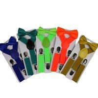 حزام ربطة مجموعة الحلوى اللون الاطفال الحمالات مع القوس التعادل قابل للتعديل الفتيات الفتيان الحمالات بالجملة 26 تصاميم اكسسوارات الزفاف BT5916