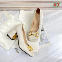 Sandali di design del marchio di qualità Sandali Sexy Tacchi alti di modo Nuovo Tacco spesso da donna Scarpe da sposa Bridal Dress Shoes Shoes Shoes Dimensioni 35-42 con Bo