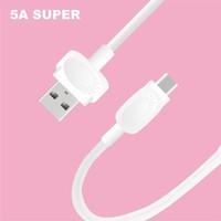 5A Süper Şarj Veri Aliminum Kabuk Silikon Tip-C Android Samsung Huawei Şarj Sync Kabloları için Mikro USB Kablosu Kordon 1 M