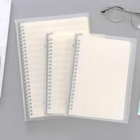 Notizbücher A5 / B5 Lose Blatt-Notebook-Leergitter-Linie Punkt English Papier-Nachfüllung Spiralbindemittel-Anmerkungs-Buchwochenplaner Büroschulbedarf