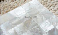 11pcs Superbe coquille blanche carreaux de mosaïque mère de perles Bar sans couture Villa Papier peint Mosaïques salle de bain cuisine carrelage mural
