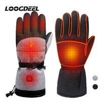 Горнолыжные перчатки Loogdeel Нагревательный материал Теплый Удобный Удобный Носимый Ветрозащитный Palm Противоскользящий Полный Палец Наружная активность