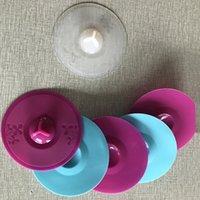 الإبداعية جميلة سيليكون كأس غطاء 11 سنتيمتر نمط الطباعة على التسرب واقية الغبار مقاوم للغطاء كوب غطاء FDA بلون ختم أغطية المنزلية VTKY2105