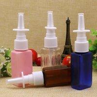 Wholesale30ml إفراغ البلاستيك الأنف ضباب بخاخ مضخة 1OZ PET زجاجات الأنف الدوائية البخاخة إعادة الملء مستحضرات التجميل الحاويات