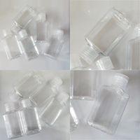 Mano trasparente Sanitizer Bottiglie in plastica Vuoto Contenitore di disinfezione alcolico Mini liquido Trucco Trucco PACCHETTO SUB Bottiglie 60ml 0 59YJ E19