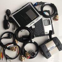 نظام أداة تشخيص MB نجمة C3 مع محرك الأقراص الصلبة 120GB مثبتة جيدا في شاشة الكمبيوتر المحمولة CF19