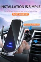 15 Вт Магнитное Ци Беспроводное зарядное устройство Инфракрасный датчик Автоматический быстрый зарядки для Samsung S20 S10